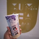 White Rabbit Sweets Drink With Butterfly Pea Boba
