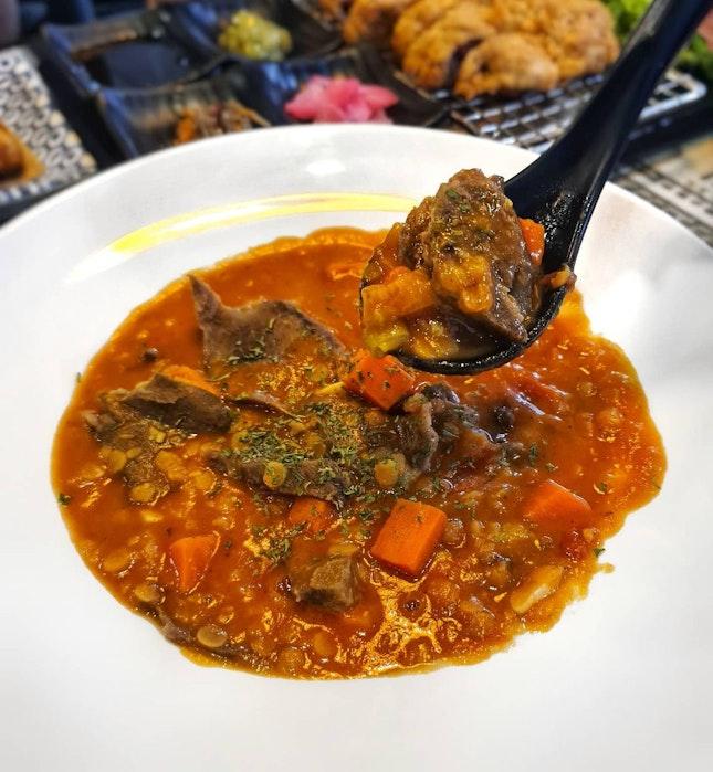 Ox-Tongue Lentil Stew