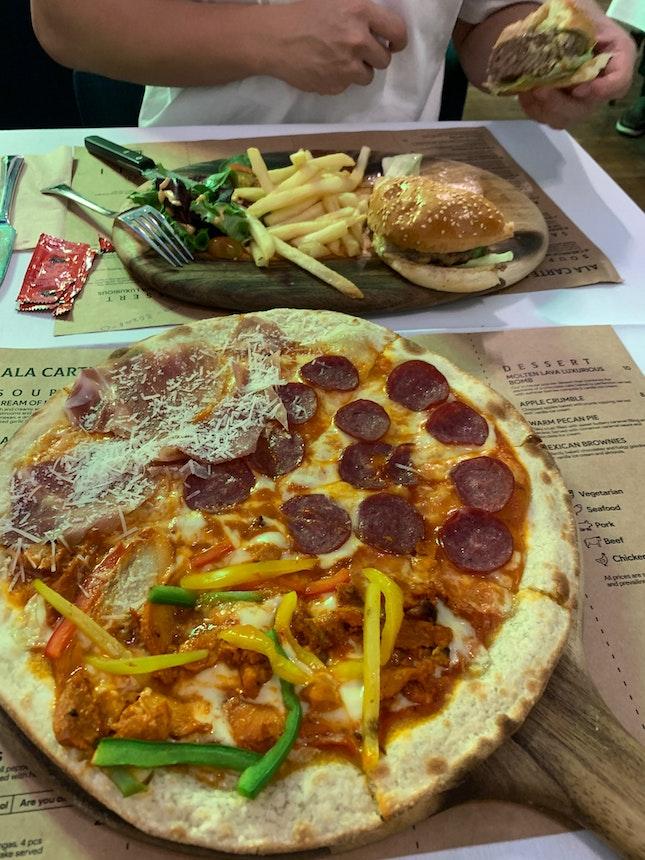 Cali's I Want Meat-Zza & Wagyu burger