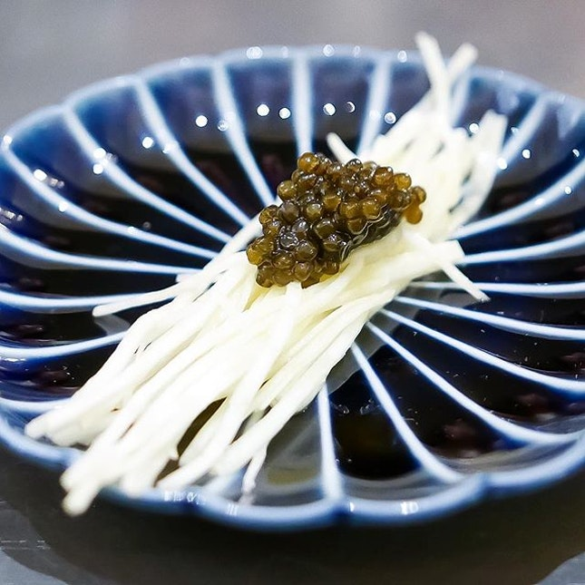 Celeriac, Brown Butter, Oscietra Caviar.