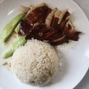 Roasted Chicken Thigh + Roasted Duck Rice (RM11)