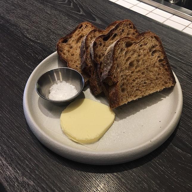 Sourdough Toast With Seasalt (RM12)