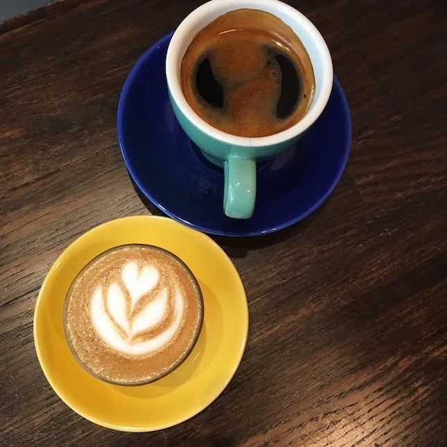 Piccolo Latte (RM7) & Long Black (RM8)