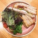 Chicken, Lettuce, Tomato Jam Sandwich (RM18)