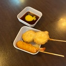 Eggplant (RM2.50) & Prawn (RM3.50) Kushiage