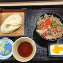 Cold Udon With Gyudon Set