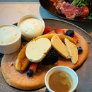 Ricotta Pancakes & Espresso butter