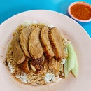 Just a very simple, herbaly plate of Teochew braised duck rice