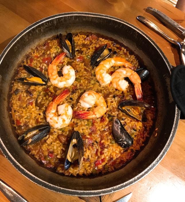 Charcoal Seafood Paella