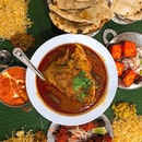 [Little India] Tandoori Chicken, Butter Chicken, Paneer, Garlic Naan, and their signature Fish Head Curry—spicy with a slight sourish kick.