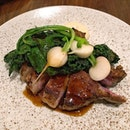 [Telok Ayer] Iberico Pork Chop ($42) with white turnip, cavolo nero and the smoothest apple purée you'll taste.