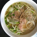[Telok Ayer] Their beef pho ($10.50) is better than most around and has occasional glimpses of beefiness, but it's overpoweringly sweet—even the addition of lime and chilli couldn't tame it.