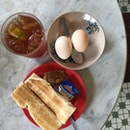 Kaya Butter Toast And Half Boiled Egg
