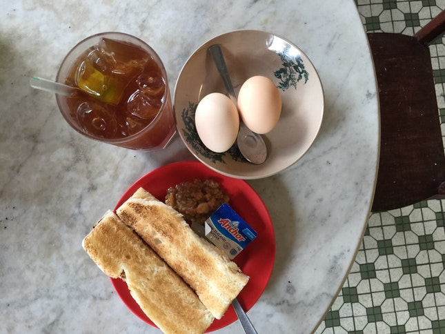 Kaya Butter Toast And Half Boiled Egg