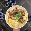 Weekend Pasta- Tagliatelle Cooke's with Mushroom in Parmesan Cheese Wheel @thewheeluk.