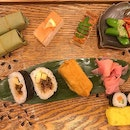 Sushi wrapped in leaves are a specialty in Nara, Japan.