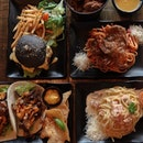 Feasting at @burp.tanjongkt the other day with pasta dishes 🍝 , Korean beef tacos 🌮, a burger 🍔 and some prawn paste popcorn chicken 🐓 left me tummy very round and a broad, wide smile on my face 😁 A place for friends with different food cravings to congregate and bond, I'd say!