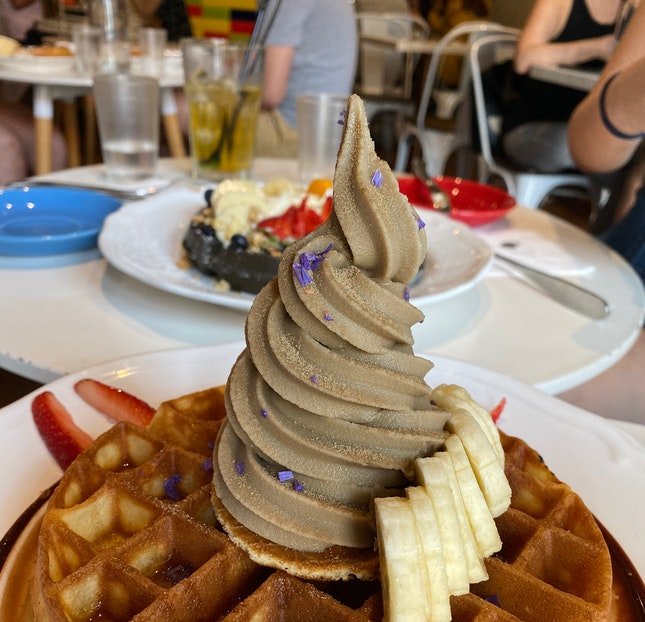Soft Serve With Waffle