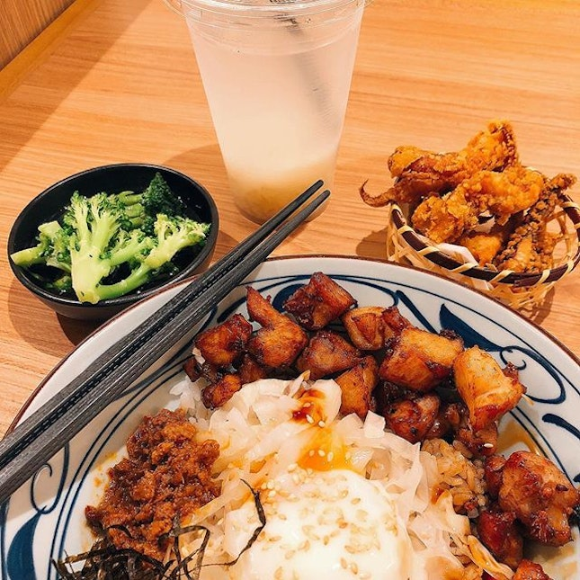 BBQ lunch special at @marugame_udon.