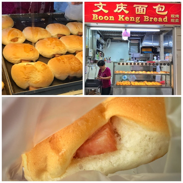 Review on Boon Keng Bread, Stall #01-44, Luncheon Meat Bun ($1.20)