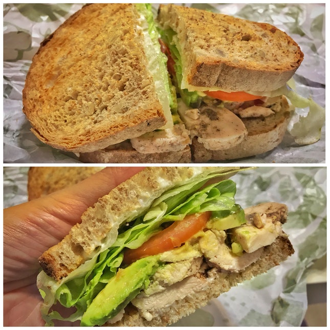 Review on Roasted Chicken Avocado Sandwich with Mayo ($9.50)