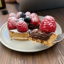 Raspberry Gianduja Tart, $8.50+