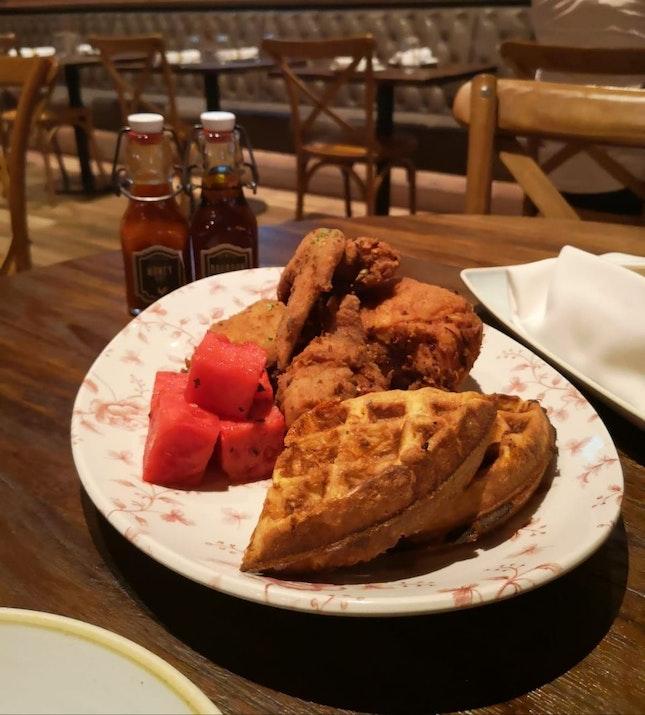 Chicken & Watermelon & Waffles