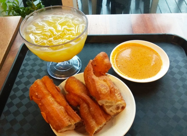 Almond Youtiao, Chicken Curry & Lime Ai-Yu