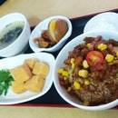 Lu Rou Fan With 13 Spices Crisp-Fried Tofu