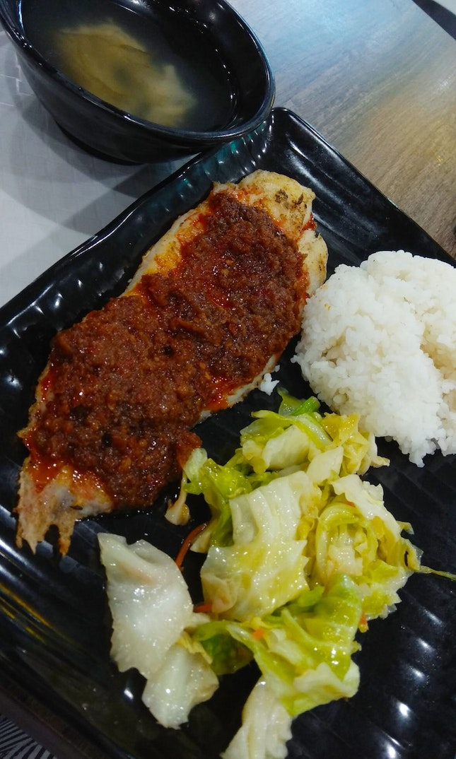 Sambal Grilled Fish Rice