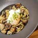 Mushroom Linguine With Truffle Cream