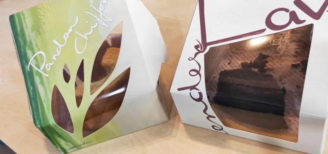 Pandan & Chocolate Chiffon Cakes