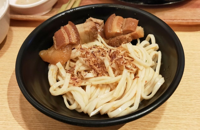Chilled Udon With Stewed Pork