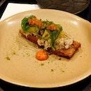 Buerre Noisette Crab, Roe, Mandarin, Capsicum