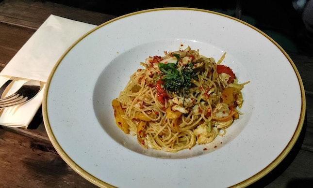 Spicy Crabmeat Capellini