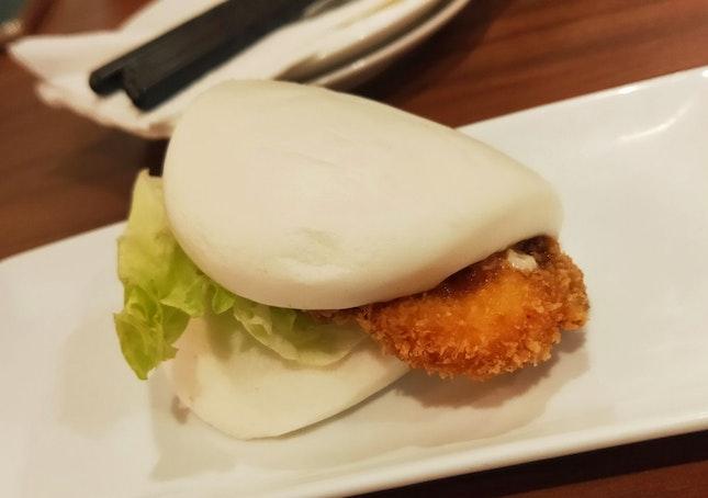 Salmon Katsu Bun