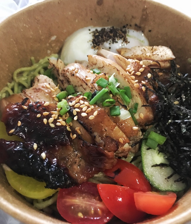 Grilled Chicken Thigh+soba (students: $6.90)