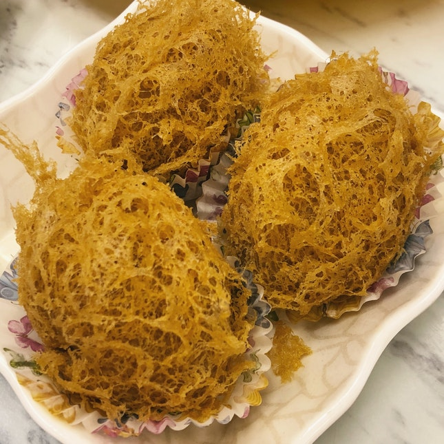 Taro dumpling stuffed with meat