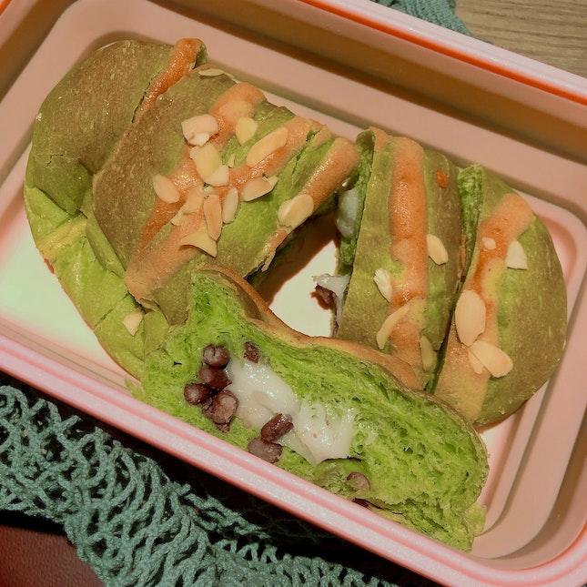 Matcha Azuki Mochi Bread