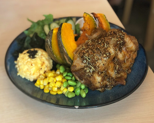 Christmas special - Rosemary Chicken with Baked Pumpkin