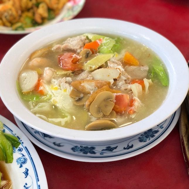 Seafood seaweed soup