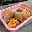 Healthy Longan bread and chocolate walnut scone