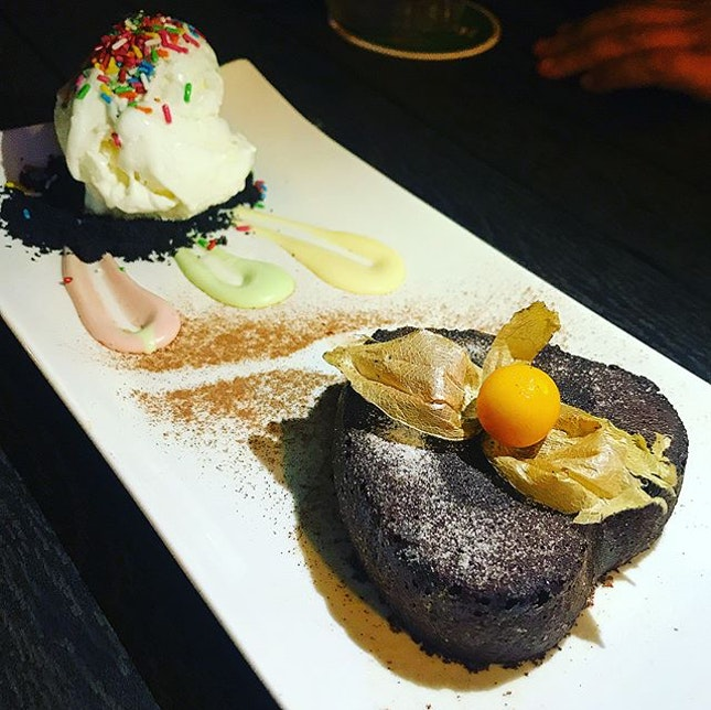We went for drink....but were seduced by the chocolate lava cake!