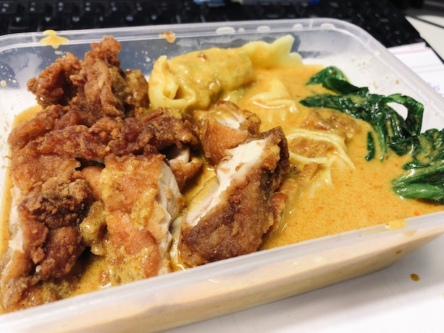 Chicken Cutlet Curry Noodles $4