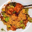 Stir-Fried Sambal Prawn with Petai, $28
