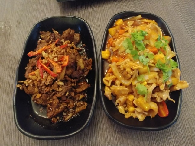 Thai Garlic Beef & Thai S&S Chicken