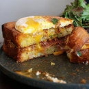 Wouldn't mind this crispy toast of Croque Madame for lunch!