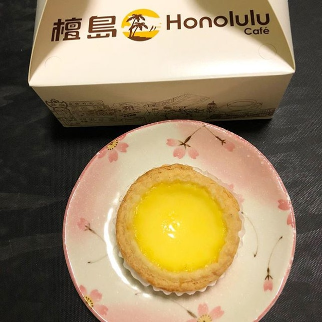 First time visiting Honolulu Cafe and trying their egg tarts.