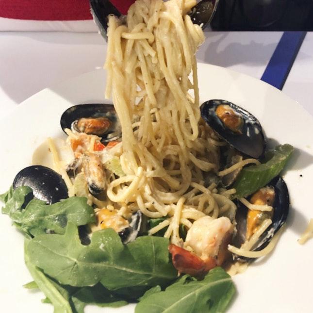 Kava Coffee - Seafood Cream Pasta