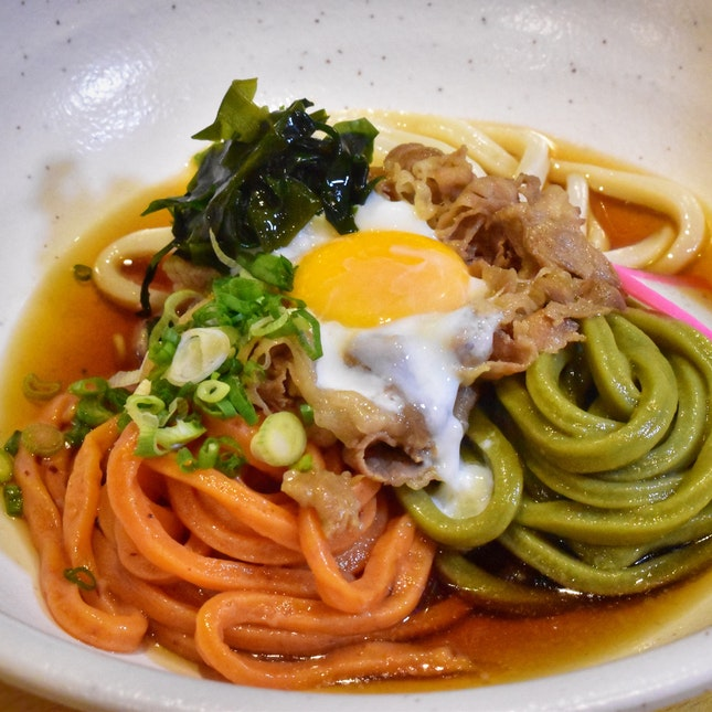 Tricoloured Chilled Udon